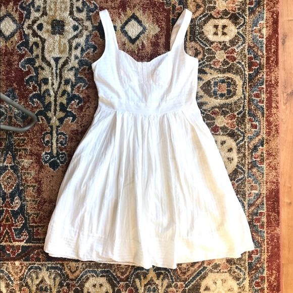 bdde9647 Liz Claiborne Dresses | White Cotton Summer Dress | Poshmark